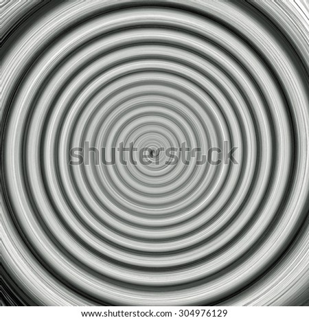 Digital Painting Abstract Black and White Twilight Zone Spiral Vortex Background