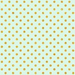 Digital Paper for Scrapbook Mint & Gold Glitter Polka Dots Pattern seamless Texture Background