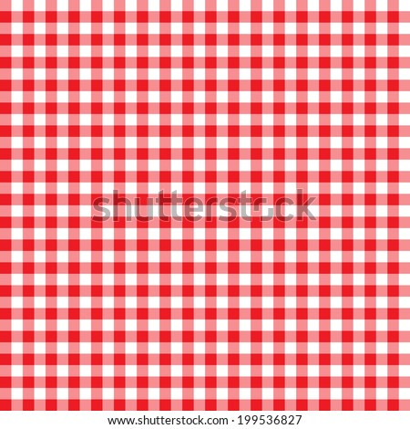Digital Paper for Scrapbook Red Gingham Pattern seamless