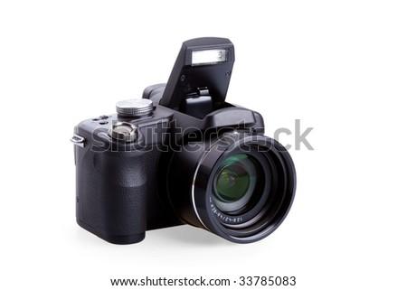 digital photo camera isolated on white #33785083