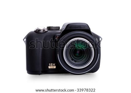 digital photo camera isolated on white background #33978322