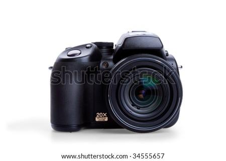Digital photo camera isolated on white background #34555657