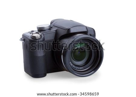 Digital photo camera isolated on white background #34598659