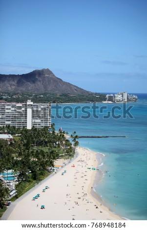 Stock Photo Digital Photography Background Of Waikiki Beach Honolulu Hawai'i