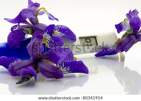 Digital Pregnancy Test with flowers