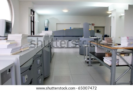 Digital press printing in printshop. Digital press printing is the reproduction of digital images on a physical surface.
