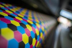 Digital printer with one test print - colour management cmyk