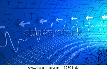 Digital pulse monitor abstract background