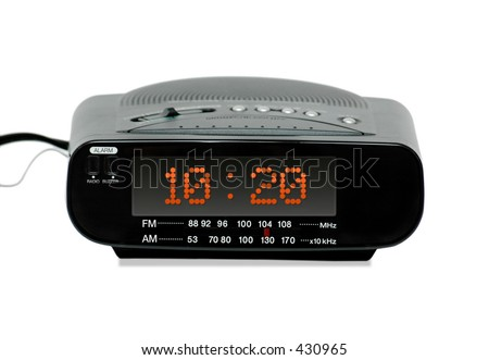 Digital Radio alarm clock -isolated