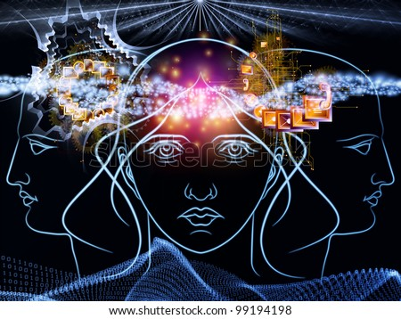 Digital reasoning background suitable as a backdrop for projects on modern technology, digital revolution, scientific thinking, science and technology related issues