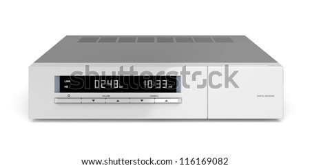 Digital receiver on white background