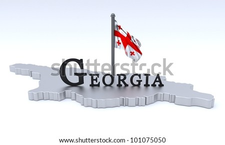 Digital render of country plus flag
