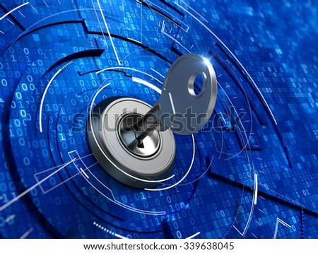 digital security concept    key ...