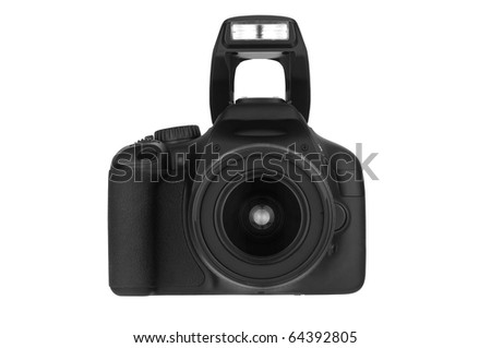 Digital Single Lens Reflex (clipping path) on white background
