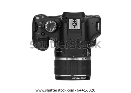 Digital Single Lens Reflex-top view (clipping path) #64416328