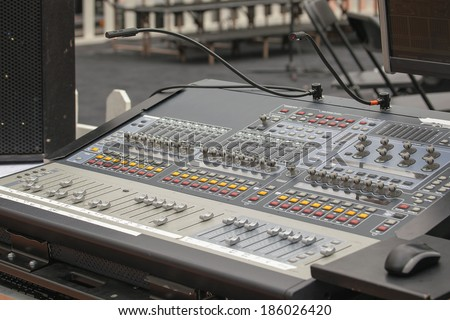 Digital Sound Mixing Console for Live Stage Performance and Control of Musical Instrument and Microphones