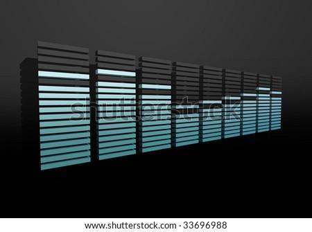 digital spectrum equalizer bar display