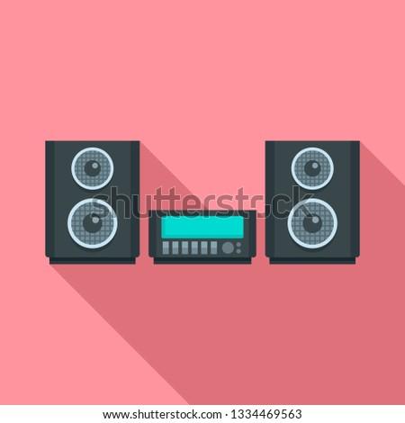 Digital stereo system icon. Flat illustration of digital stereo system icon for web design