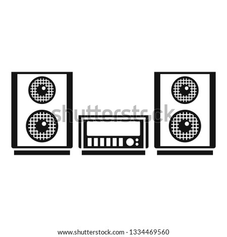 Digital stereo system icon. Simple illustration of digital stereo system icon for web design isolated on white background