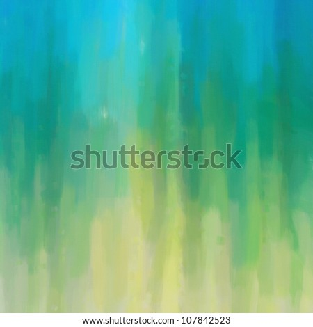 Digital structure of painting. abstract oil paint blue green background