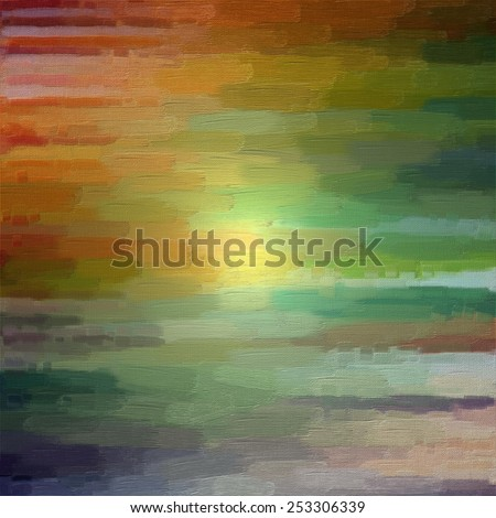 Digital structure of painting. Abstract rainbow colorful art line