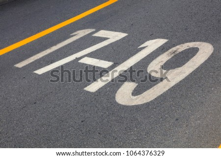 Digital symbols on the road #1064376329