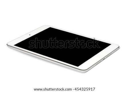 Digital tablet computer on white background, isolated