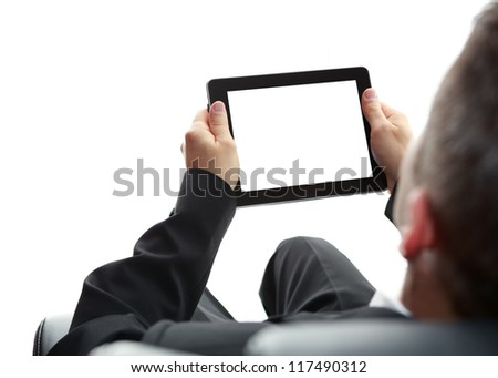 digital tablet in hands