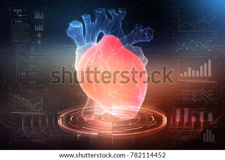 Digital technologies in medicine and scientific research of the body. Study of the human heart. 3D modeling in the field of transplantology of internal organs