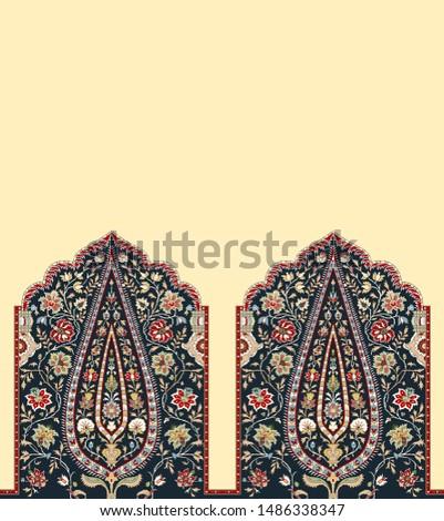 digital textile design border and texture