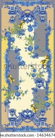 digital textile design flowers and pattern