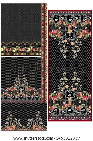 digital textile design flowers and pattern texture