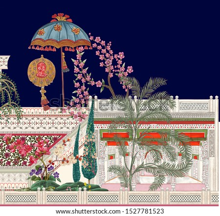 digital textile design ornament and pattern