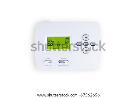 digital thermostat isolated on white