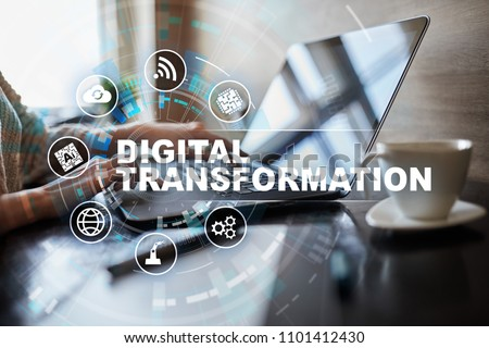 Digital transformation, Concept of digitization of business processes and modern technology. #1101412430