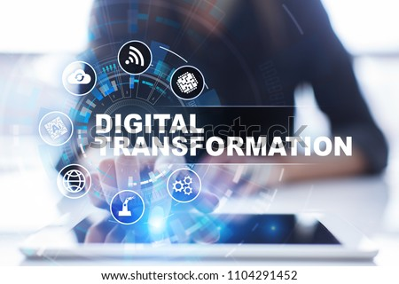 Digital transformation, Concept of digitization of business processes and modern technology. #1104291452