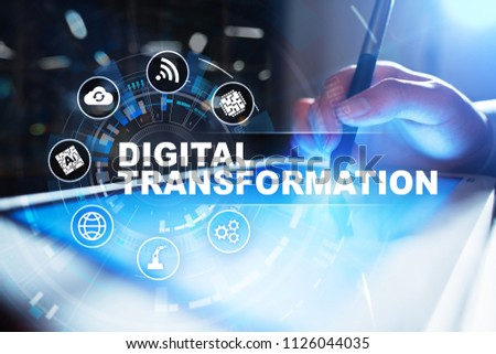 Digital transformation, Concept of digitization of business processes and modern technology. #1126044035