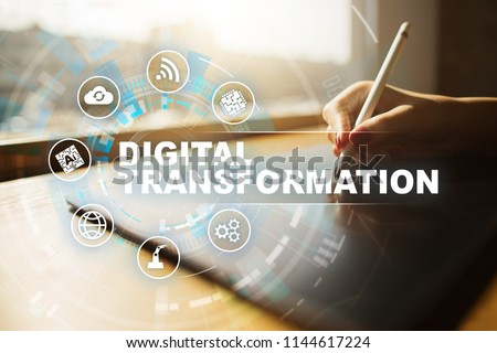 Digital transformation, Concept of digitization of business processes and modern technology. #1144617224