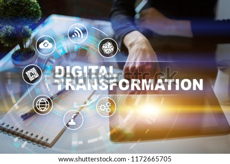 Digital transformation, Concept of digitization of business processes and modern technology. #1172665705