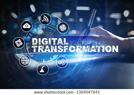 Digital transformation, Concept of digitization of business processes and modern technology. #1369047641