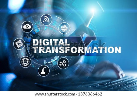 Digital transformation, Concept of digitization of business processes and modern technology. #1376066462