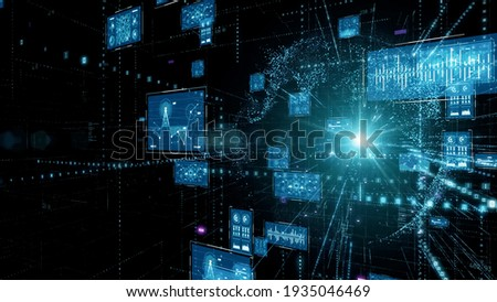 Digital transformation concept. System engineering. Binary code. Programming.