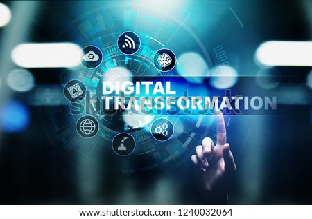 Digital transformation, disruption, innovation. Business and  modern technology concept. #1240032064