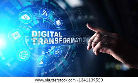 Digital transformation, disruption, innovation. Business and  modern technology concept. #1341139550