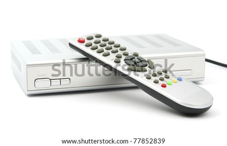 Digital TV on white background
