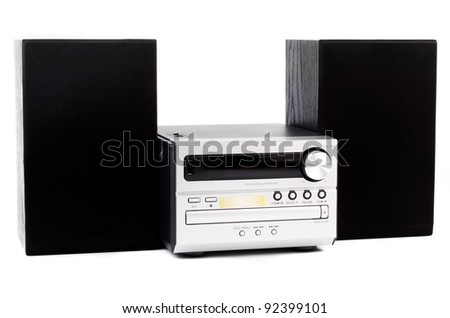 digital usb and cd player against the white background Stock fotó ©