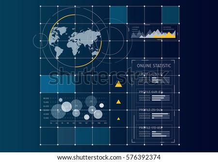 Digital user interface . Mixed media #576392374