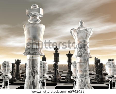 digital visualization of a chessboard
