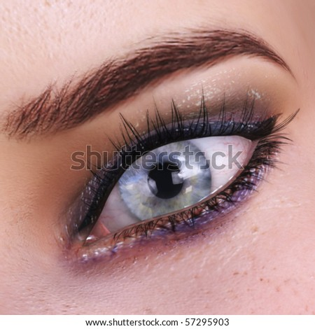 Digital visualization of a female eye