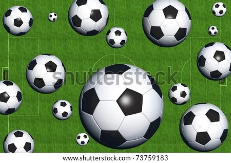 Digital visualization of a soccer scene